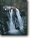 Stock photo. Caption: Burney Falls,  Hat Creek McArthur-Burney Falls State Park Cascade Range California -- waterfall waterfalls winter parks creek creeks united states america ranges cold tourist destination destinations attraction attractions springs travel cascades