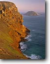 Stock photo. Caption: Hoffman Point and Prince Island San Miguel Island Channel Islands National Park California -- united states america headland headlands pacific ocean coast west spring secluded windswept solitude isolated wild coastline islands isolation cliff cliffs coastline coastlines shoreline shorelines