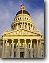 Stock photo. Caption: State Capitol Capitol Park Sacramento California -- central valley spring cities cityscape cityscapes capital building buildings capitals united states america flowers capitols government strong strength flag flags sunny blue columns ornate scenics scenic