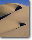 Stock photo. Caption: Mesquite Flat Sand Dunes Death Valley Death Valley National Park Mojave Desert, California -- mohave sands sandy parks deserts ripples dune blue skies artistic nature curve curves ripple brown desolate united states warm detail sensual balance eternal loneliness purity winter erosion geology southwest southwestern