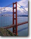Stock photo. Caption: Golden Gate Bridge   and San Francisco Bay Golden Gate National Recreation Area Marin County,  California -- city cityscapes cityscape areas urban  united states travel tourist destination destinations landmark landmarks recreation bridges suspension skyline skylines icon icons attraction attractions highway highways symbols symbol bays