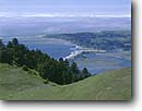 Stock photo. Caption: Stinson Beach and Bolinas Lagoon   from Bolinas Ridge   in Mount Tamalpais State Park Marin County,  California -- united states america landscape landscapes coast coasts west pacific coastline coastlines shoreline shore shorelines summer seascape seascapes ocean oceans lagoons san francisco bay area  rolling hills coast range
