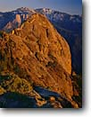 Stock photo. Caption: Moro Rock Sequoia National Park Sierra Nevada California -- granite domes dome winter snow glaciated glacial valleys parks united states america pristine tourist travel attraction attractions polished power expanse expansive pinnacle pinnacles peak peaks sierras mountain mountains landmark landmarks sunny clear