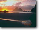 Stock photo. Caption: Camel Rocks   from Houda Point Beach Trinidad Humboldt County California -- united states america seascape seascapes rock seastack seastacks sunset sunsets pacific ocean tide minus reflection reflections north coast tidepool tidepools seascape seascapes travel tourist destination destinations dramatic sunsets scenics winter