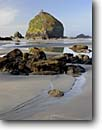 Stock photo. Caption: Mminus tide at Houda Point Beach Trinidad Coastal Land Trust Humboldt County Trinidad, California -- united states america seascape seascapes camel rock seastack seastacks pacific ocean tide minus reflection reflections north coast tidepool tidepools seascape seascapes travel tourist destination destinations northcoast seashore coastlines