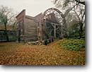 Stock photo. Caption: Bale Grist Mill State Historical Park Napa Valley Napa County,  California -- parks winter colors leaves trees branches quaint nostalgia nostalgic mills historic historical buildings united states america rural waterwheel waterwheels progress motion circle circles building pioneers water powered grinding landscapes landscape