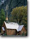 Stock photo. Caption: The Chapel Yosemite Valley Yosemite National Park Sierra Nevada,  California -- churches mountains quaint fall autumn tourist travel destination destinations pastoral  worship attractions snow chapels country building buildings historic historical church steeple sierras scenic scenics places religious religion peace peaceful quiet