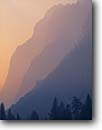 Stock photo. Caption: Cliffs in morning fog Glacier Point Yosemite National Park Sierra Nevada,  California -- united states america parks world heritage site sites sierras tourist destination destinations family vacation attraction attractions ethereal abstract abstracts ridge ridges artistic nature perspective cliff moody mist misty smog smoggy