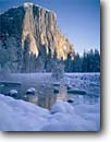 Stock photo. Caption: El Capitan and the Merced River   from Gates of the Valley Yosemite National Park Sierra Nevada,  California --