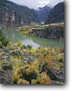 Stock photo. Caption: Green River in autumn   at the Gates of Lodore Dinosaur National Monument Colorado Plateau,  Colorado -- Keywords: united states america rocks landscape landscapes fall rivers floating boating destination destinations monuments recreation water desert deserts adventure rafting