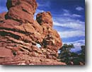Stock photo. Caption: The Siamese Twins Garden of the Gods Colorado Springs Colorado Plateau,  Colorado -- Keywords: canyons country sandstone morning erosion eroded sandy united states america desolate remote isolation rockies rocky mountain front range natural features landscape landscapes solitude spire spires uplifted pinnacle arch arches