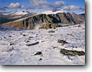 Stock photo. Caption: Autumn snow on the Mummy Range   from Trail Ridge Rocky Mountain National Park Rocky Mountains,  Colorado -- Keywords: united states america mountain backcountry high country parks Wilderness wildernesses landscape landscapes granite peaks peak range snow snowy spring frozen rocky outcrop sunny clear destination destinations cold weather desolate snowswept