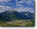 Stock photo. Caption: Silverton San Juan Mountains Colorado -- historic historical mining town towns mountain summer district districts   clouds rocky valley valleys tourist travel destination destinations rockies travel buildings building cities city nestled quaint landscapes landscape vacation vacations