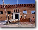 Stock photo. Caption: Fort Jefferson Dry Tortugas National Park Gulf of Mexico Florida -- parks united states america protection dive site history historical forts historic tropical tourist destination destinations diving sunny clear blue skies winter anchor exhibit display brick building buildings