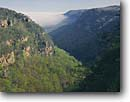 Stock photo. Caption: Cloudland Canyon Cloudland Canyon State Park Appalachian Mountains Georgia -- united states america spring canyons south southern states southeast mountains appalachians tourist attraction attractions deep valley valleys parks cliffs appalachia clear sunny landmarks landmark