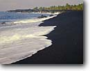 Stock photo. Caption: Kamoamoa Black Sand Beach Kamoamoa Village Hawaii Volcanoes National Park Island of Hawaii,  Hawaii -- lava hawaiian islands spring parks united states america tropical destination destinations beaches exotic contrast white palms palm tree trees world heritage site sites sands sandy landscapes landscape sunny tropics scenics scenic purity waves surf scenic