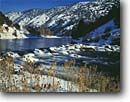 Stock photo. Caption: Bear River at the Oneida Narrows    east of  Preston Franklin County Idaho -- united states america snow mountain mountains landscape landscapes rivers cold freezing winter canyon canyons rapid rapids snowy fresh snowfall snowfalls