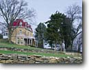 Stock photo. Caption: Historic ranch house   at Spring Hill Ranch Tallgrass Prairie National Preserve Flint Hills, Kansas -- Keywords: united states america houses ranches preserves historical great plains midwest midwestern home homes