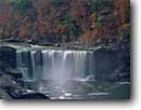 Stock photo. Caption: Cumberland Falls Cumberland Falls State Resort Park McCreary County Kentucky -- united waterfall waterfalls appalachian mountains south southeast southeastern states america parks fall autumn color colors river rivers scenic scenics landscapes landscape appalachia southern large scenic scenics deep