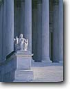 Stock photo. Caption: Supreme Court Building Contemplation of Justice, Capitol Hill Washington D. C USA -- Keywords: americana nostalgic nostalgia united states america  historic historical building buildings statues capitols cityscape cityscapes government power politics courts column columns justice district columbia