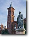 Stock photo. Caption: Statue of Joseph Henry The Smithsonian, The Mall Washington D.C. United States of America --   americana nostalgic nostalgia united states america  historic historical building buildings statues capitols cityscape cityscapes government power politics museum museums memorial memorials district columbia