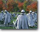 Stock photo. Caption: Korean War Veterans Memorial Statues of soldiers on patrol The Mall Washington D. C,  USA -- americana nostalgic nostalgia united states america historic historical building buildings statues capitols cityscape cityscapes government power politics soldier soldiers memorial memorials district columbia