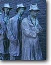 Stock photo. Caption: Depression Bread Line Franklin Delano Roosevelt Memorial The Mall Washington D. C,  USA -- Keywords: americana nostalgic nostalgia united states america historic historical building buildings statues capitols cityscape cityscapes government power politics memorial memorials district columbia depression era great