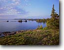 Stock photo. Caption: Looking southeast   from near Blake Point Isle Royale National Park Lake Superior,  Michigan -- parks midwest midwestern united states america landscapes landscape isolation remote great lakes shore shoreline shorelines kayaking areas area canoeing calm sunny clear  midwestern midwest