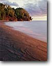 Stock photo. Caption: Swash marks on stamp mill tailings Keweenaw Waterway Lake Superior Michigan -- united states america midwest great lakes landscape landscapes lake patterns pattern wave action upper peninsula lakeshore lakeshores trees tree cloudy clouds sandy beach beaches