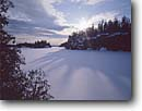Stock photo. Caption: Seagull Lake Boundary Waters Canoe Area Superior National Forest Minnesota -- united states america midwest midwestern snow scene winter  snowy  cold crisp lakes frozen new snowfall clear sunny canoeing areas fresh landscapae landscape wonderland