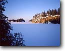 Stock photo. Caption: Seagull Lake Boundary Waters Canoe Area Superior National Forest Minnesota -- united states america midwest midwestern snow scene winter  snowy  cold crisp lakes frozen new snowfall clear sunny canoeing areas fresh landscapae landscape wonderland blue sky skies