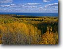 Stock photo. Caption: Skyline Parkway near Hawk Ridge Lake Superior Duluth Minnesota -- united states america midwest midwestern upper north woods parks city autumn fall color colors colours  colour great lakes scenic backroads backroad highway highways cities major parks areas great lakes lake sunny clear foliage yellow landscape landscapes