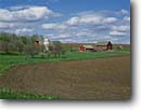 Stock photo. Caption: Farm along State Highway 23 Southwestern Minnesota --  rural midwest farms farming united states america rural pastoral agriculture barn red spring clear sunny harvest harvested barns ranching fields midwwestern ranch fields silo silos landscape landscapes building buildings