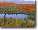Stock photo. Caption: Oberg Lake   from Oberg Mountain Superior National Forest Minnesota -- forests northern tree trees upper midwest united states america forests forest forests aspens maples mixed hardwood foliage autumn fall color colors colour colours landscape landscapes lakes stormy region great