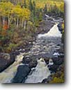 Stock photo. Caption: Beaver River North Shore Lake Superior Lake County Minnesota -- forests northern tree trees upper midwest united states america forests forest aspens maples rivers waterfall waterfalls autumn fall great lakes foliage midwestern water running habitat power powerful