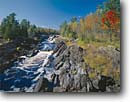 Stock photo. Caption: St. Louis River Jay Cooke State Park Carlton County Minnesota -- attraction attractions northern landscape landscapes scenic scenics great lakes destinations rivers water flowing destination destinations creek creeks gorge gorges fall autumn sunny blue skies clear parks classic view views iconic icon landmarks landmark