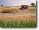 Stock photo. Caption: Harvesting hay   near Chadron Dawes County Nebraska -- landscape landscapes scenic scenics scene rural summer american rolled bales parks ranching harvest harvested mowed agriculture tractor tractors baler farm equipment farming farms industry farmland