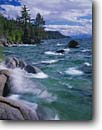 Stock photo. Caption: Lake Tahoe Lake Tahoe State Park Sierra Nevada Nevada -- Keywords: parks windy waves wind chop choppy action mountains summer rocky shoreline shorelines mountain united states america breeze breezey breezy landscape landscapes white caps whitecaps whitecap lakeshore lakeshores