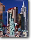 Stock photo. Caption: New York, New York Hotel Las Vegas Boulevard The Strip Las Vegas, Nevada --   city cityscapes buildings building urban landscape contrast united states america commercial commerce tourist destination destinations urban landmark landmarks attraction attractions statue statues sphinx gambling gamble hotels casinos