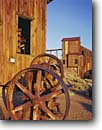Stock photo. Caption: Rusting machinery outside machine shop Ghost Town of Berlin Berlin-Icthyosaur State Park Great Basin,  Nevada -- Keywords: americana nostalgic nostalgia united states america historic historical building buildings rural farm ranching ranch vintage travel towns rustic vintage american west history