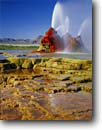 Stock photo. Caption: Cones and tufa terraces  at Geyser Hot Springs Black Rock Desert Great Basin, Nevada --   deserts hot spring hotspring terrace geyser manmade cone water dramatic unique strange step steps spout spouts spray sprays united states america west western hot water geothermal thermal remote arid