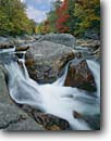 Stock photo. Caption: Ellis River White Mountains White Mountain National Forest New Hampshire,  New England -- united states america forests fall autumn color colors rivers northeast northeastern rapid rapids cascade cascades birches maples tree trees deciduous waterfall waterfalls metomorphic rock rocks granite pool pools flowing water foliage landscapes scenics