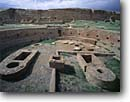 Stock photo. Caption: Kiva,  Chetro Ketl Chaco Canyon Chaco Culture National Historical Park Colorado Plateau,  New Mexico -- indian ruins native american historic parks chihuahuan desert deserts anasazi southwest southwestern rock structure mysterious archeological archeology ancient world heritage site sites kivas sacred worship balance wisdom spiritual ruin landscapes