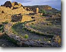 Stock photo. Caption: Pueblo del Arroyo Chaco Canyon Chaco Culture National Historical Park Colorado Plateau,  New Mexico -- pueblos indian ruin ruins native american historic parks chihuahuan desert deserts anasazi spring southwest southwestern united states america world heritage site sites colorado plateau spiritual archeology archeological landscapes landscape scenics