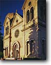 Stock photo. Caption: Saint Francis Cathedral   built 1714 Santa Fe New Mexico --   churches crosses cross religion united states america  worship place places christain christianity cathedrals southwest southwestern catholic historic historical