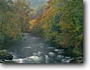 Stock photo. Caption: Nantahala River Nantahala River Gorge Nantahala National Forest North Carolina -- appalachian mountains maples appalachians fall autumn color colors forests hardwood forest united states america south southern southeastern landscape landscapes rivers stream streams kayaking recreation boating kayak running appalachia famous popular