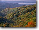 Stock photo. Caption: Shot Beech Ridge from Newfound Gap Road Great Smoky Mountains  National Park North Carolina -- deep creek valley maples maple forest forests hardwood fall autumn mountains national parks appalachian appalachia south southern southeast southeastern united states america world heritage site sites pristine landscape landscapes distance view views