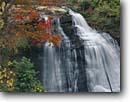 Stock photo. Caption: Brandywine Falls Brandywine Creek Cuyahoga Valley National Park Summit County, Ohio -- united states america waterfall waterfalls creek creeks fall autumn northern hardwood forest leaves parks midwest midwestern colorful serene landscape landscapes foliage landmark landmarks