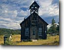 Stock photo. Caption: Historical mining town   of Granite Blue Mountains,  Oregon -- towns rural rustic mail ghost historic building buildings summer united  school schools church churches bell bells belltower belltowers vintage preserved wooden western west heritage landscapes landscape quiet outhouses outhouse towns windows history