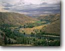 Stock photo. Caption: Troy Grande Ronde River Valley Wallowa County Oregon -- united states america rural landscape landscapes ranch ranching ranchland agriculture farming pacific northwest northwestern country living high desert towns town buildings building city small cities nestled rivers near built